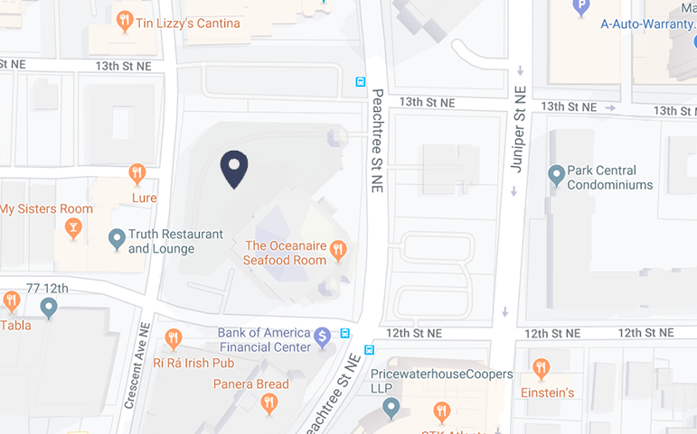Map to the Atlanta Office
